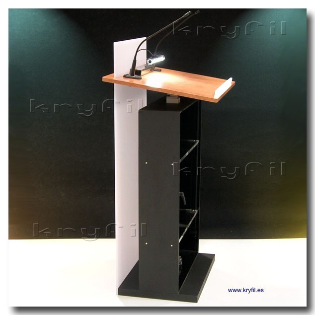 Acrylic and wooden lecterns and podiums for conferences and speeches
