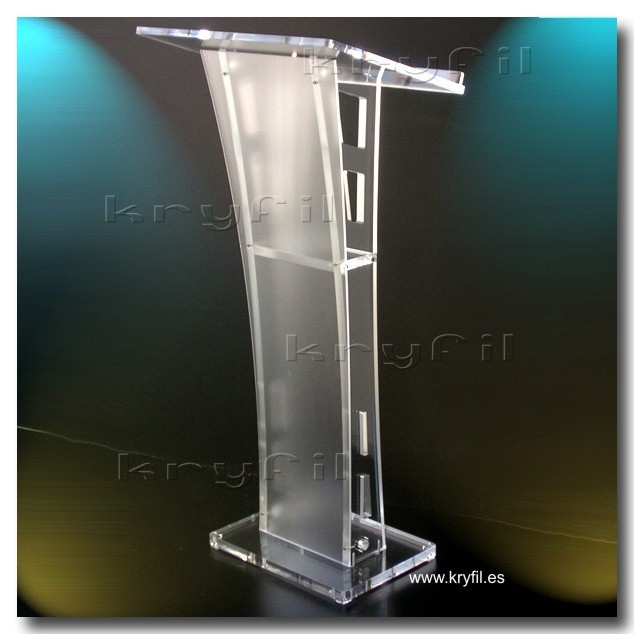 Contemporary acrylic lecterns and podiums