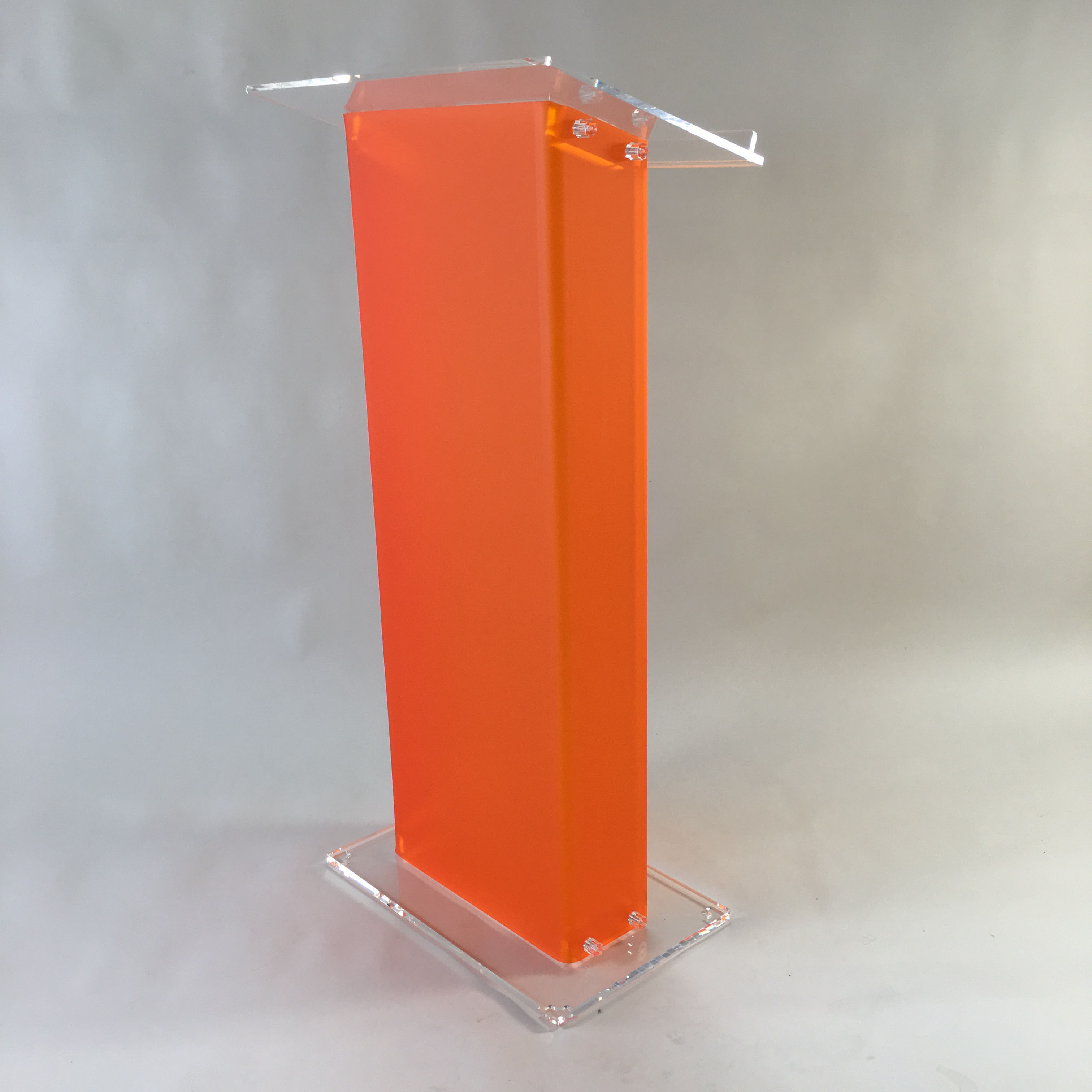 Acrylic floor lecterns and podiums