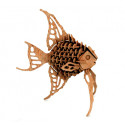 3D Angelfish Puzzle laser cut