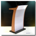 Acrylic and Wooden Combi Lectern Olimpo