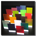 Satin acrylic sheets
