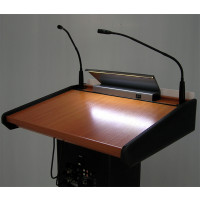 Lectern with Integrated Wireless Amplifier System