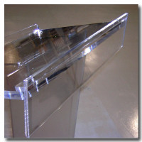 Acrylic Advertising Front Display