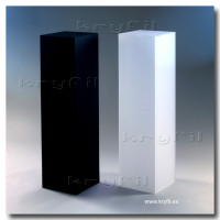 Satin Black & White Acrylic Column