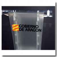 Personalized corporate logo on front side