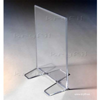 Displays for Menus in high-impact  methacrylate for bars and restaurants.