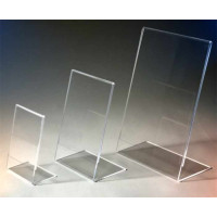 Displays and advertising holders in Methacrylate