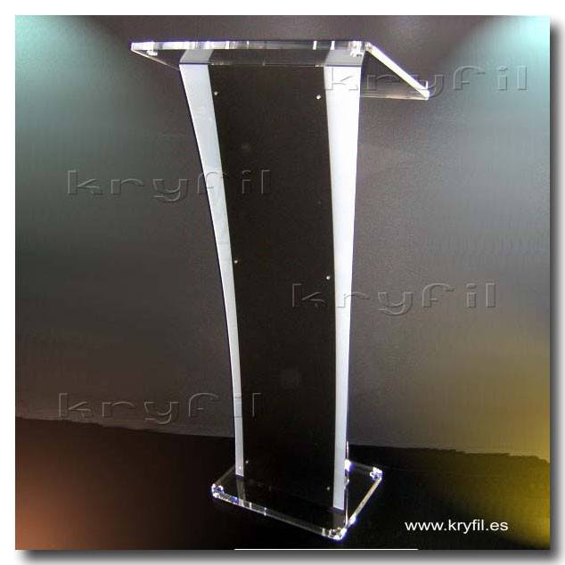 Acrylic Lectern  combined with black and white front pane