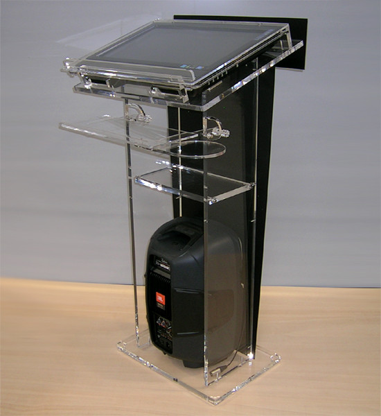 Self powered acrilic lecterns