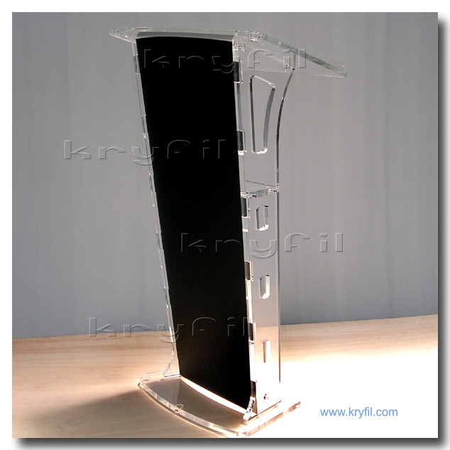 Acrylic lecterns and podiums. Church pulpit