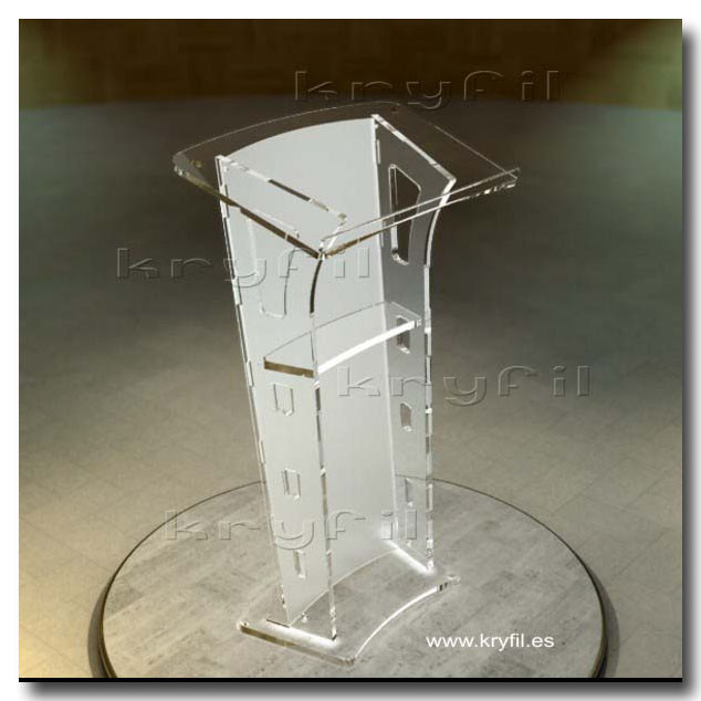 Large contemporary acrylic podiums and lecturns