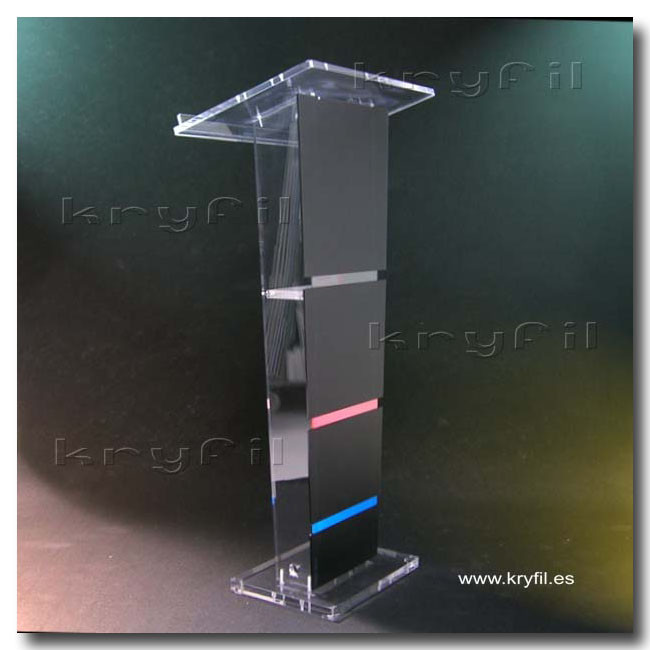 Colour acrylic lectern