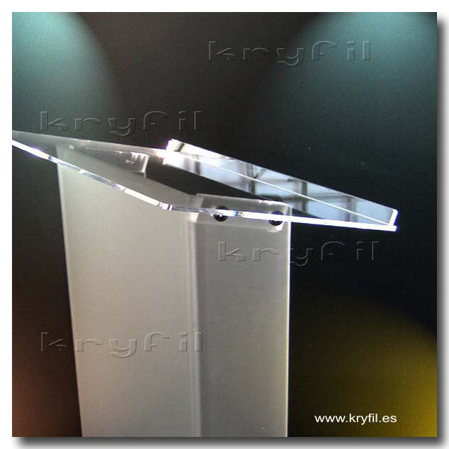 Acrylic descktop low cost shipping lectern