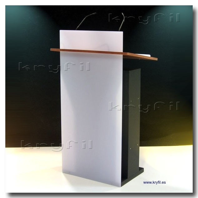 Acrylic and wooden lecterns and podiums