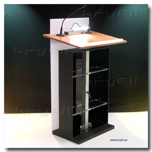 Professional Adjustable Acrylic and Wooden Lectern.