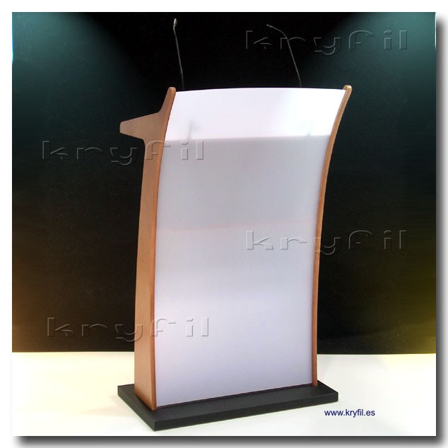 Large top acrylic podiums and lecterns