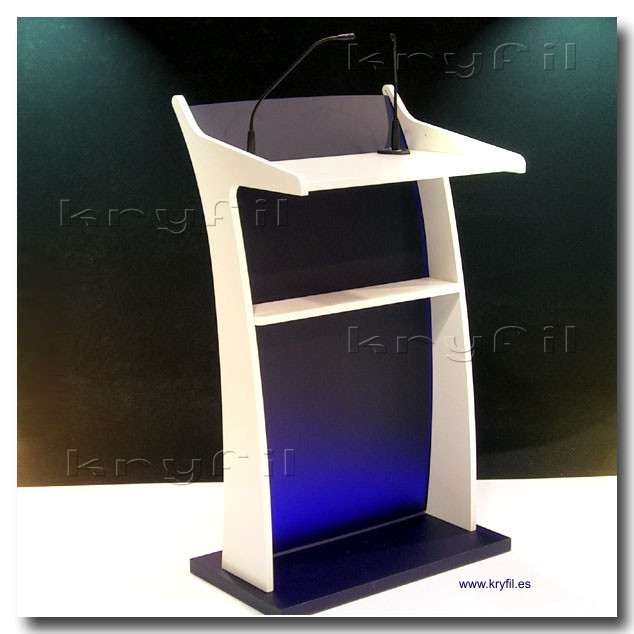Solid wood and acrylic lecterns and podiums