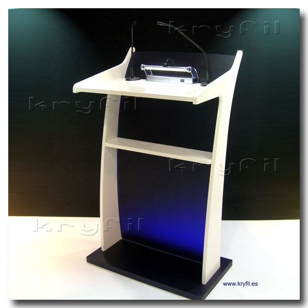 Podium: Comby acrylic and wood residential acrylic lectern