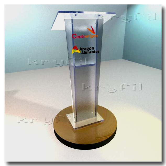 Traditional acrylic lecterns and podiums