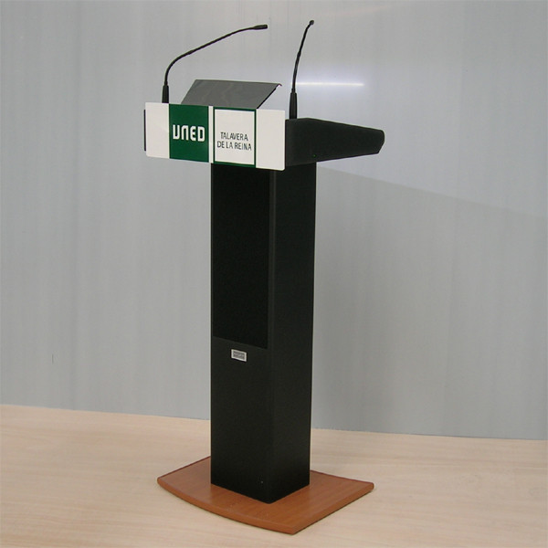 Professional Lectern with Integrated Wireless Amplifier System
