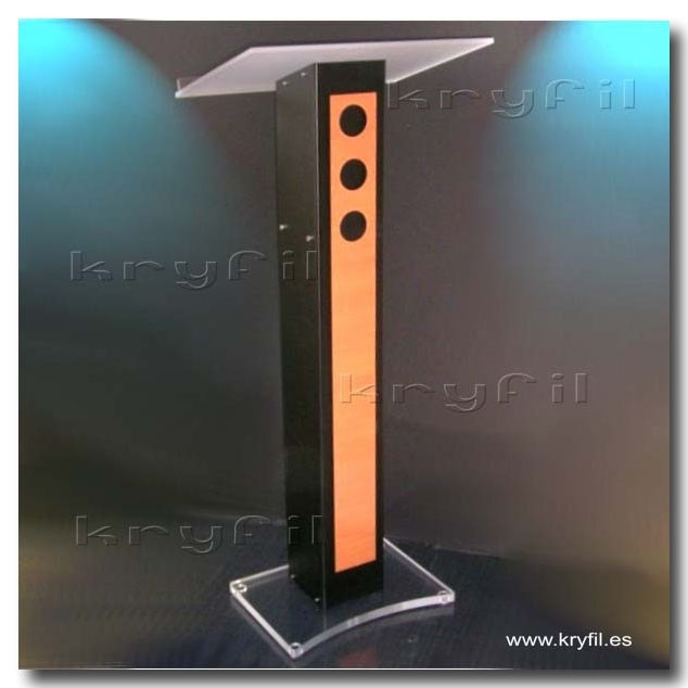 Detachable Acrylic Lectern. Low cost and lightweight