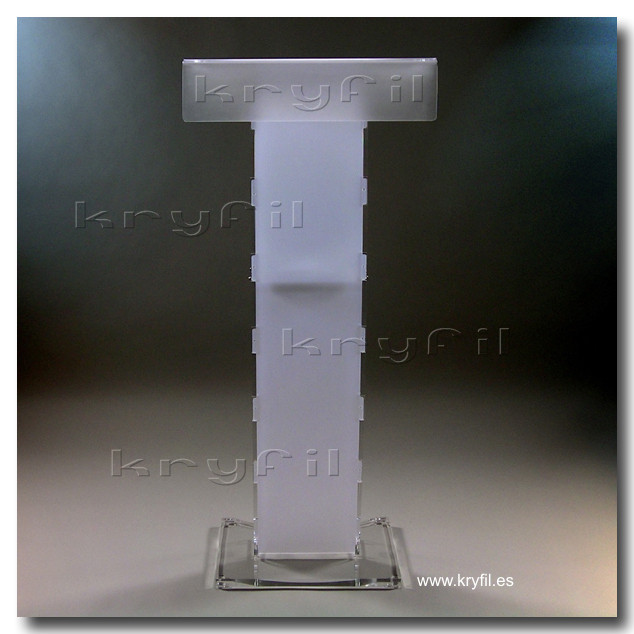 Lucite lecterns and podiums