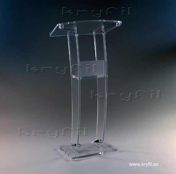 Acrylic podiums, lecterns and pulpit stands