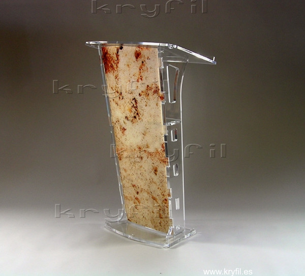 Clear acrylic podiums and lecterns