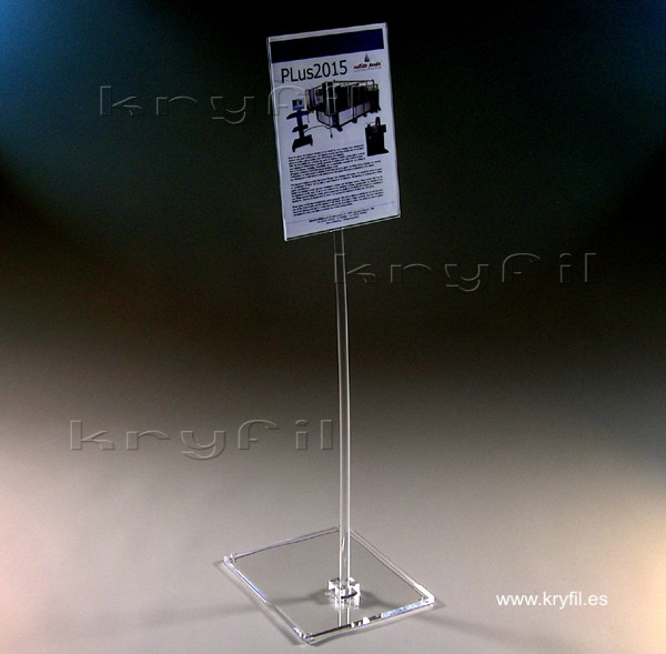 Acrylic A-4/A-3 Display Stand